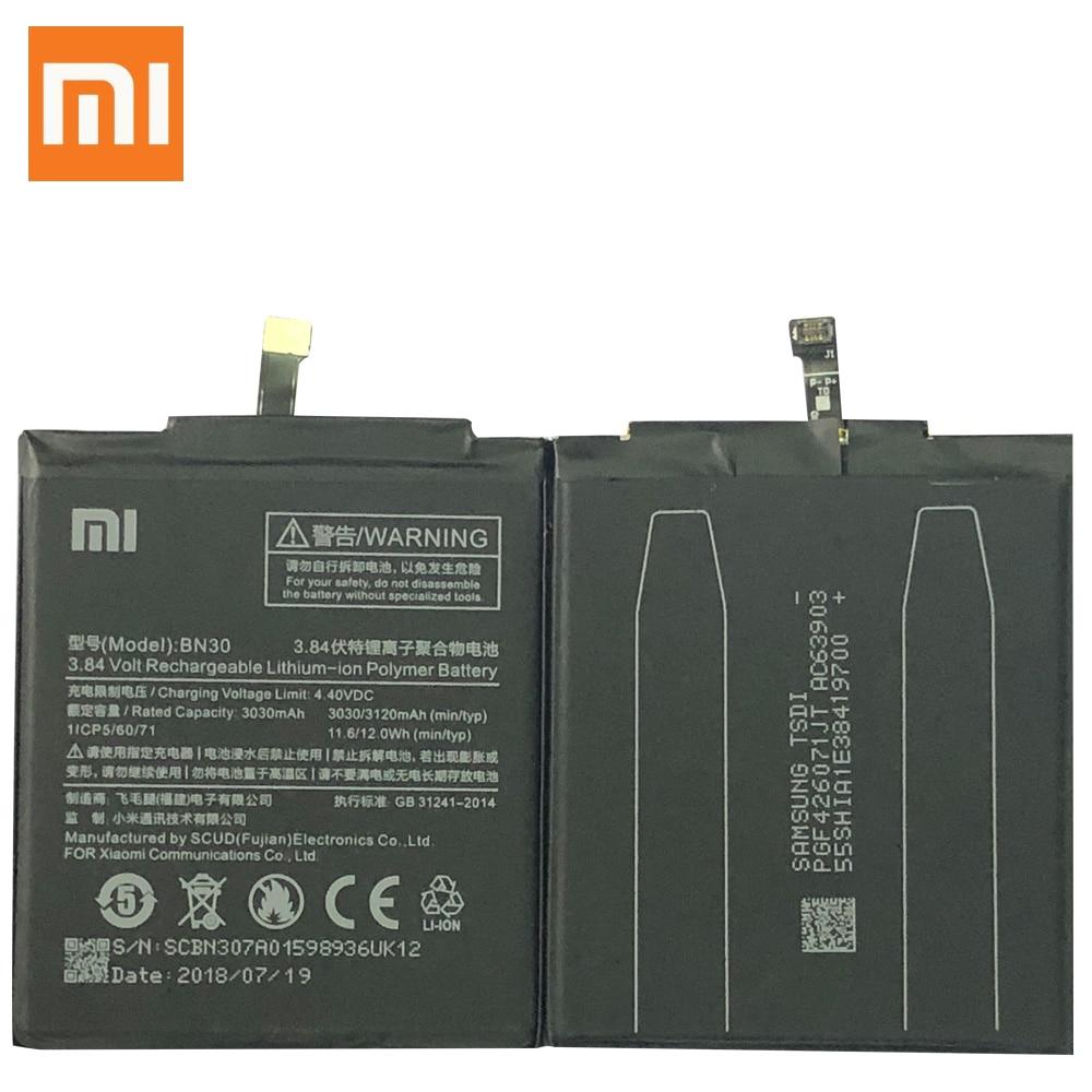Original Battery For XIAOMI Redmi 4A Battery BN30 3030mAh Replacement Full Capacity