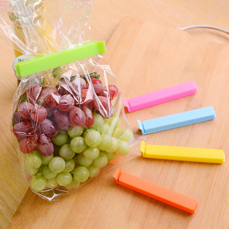 5pcs/lot Home Storage Organization Kitchen Tool Food Snack Sealing Bag Clips Food Fresh Keeping Plastic Food Close Clip