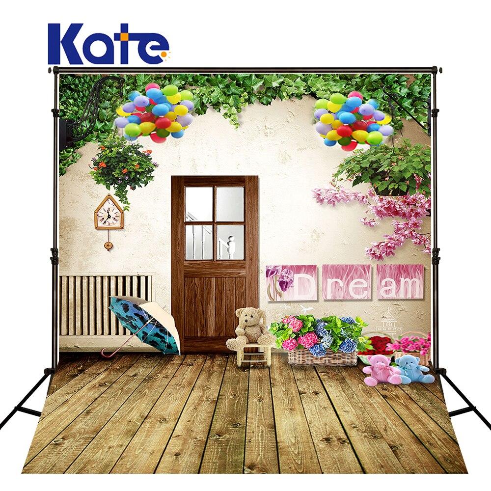 300 Cm * 200 Cm (10Ft * 6.5Ft) Kate arrière-plan Photo toile de fond Fundo parapluie famille plante couleur largeur arrière-plans arrière-plans photographie