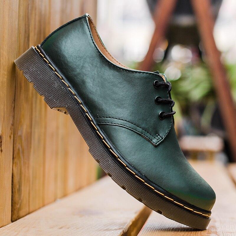 1461 martens Grande Taille En Cuir Véritable de Marque Hommes Chaussures Printemps Oxford Chaussures Mode décontracté Concepteur Hommes Chaussures En Cuir Mocassins