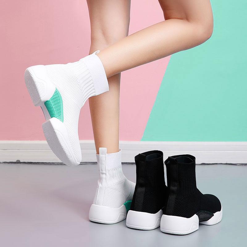 Fashion Sneakers Running-Shoes Balanciaga Flyknit Women High Sock Zapatos Good-Quality