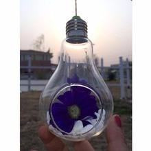 Szklany świecznik w kształcie żarówki
