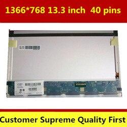 Livraison gratuite 13.3 pouces LCD MATRICE B133XW02 V.0 LP133WH1 TLA1 N133B6-L02 LTN133AT17 ordinateur portable lcd écran led 40pins