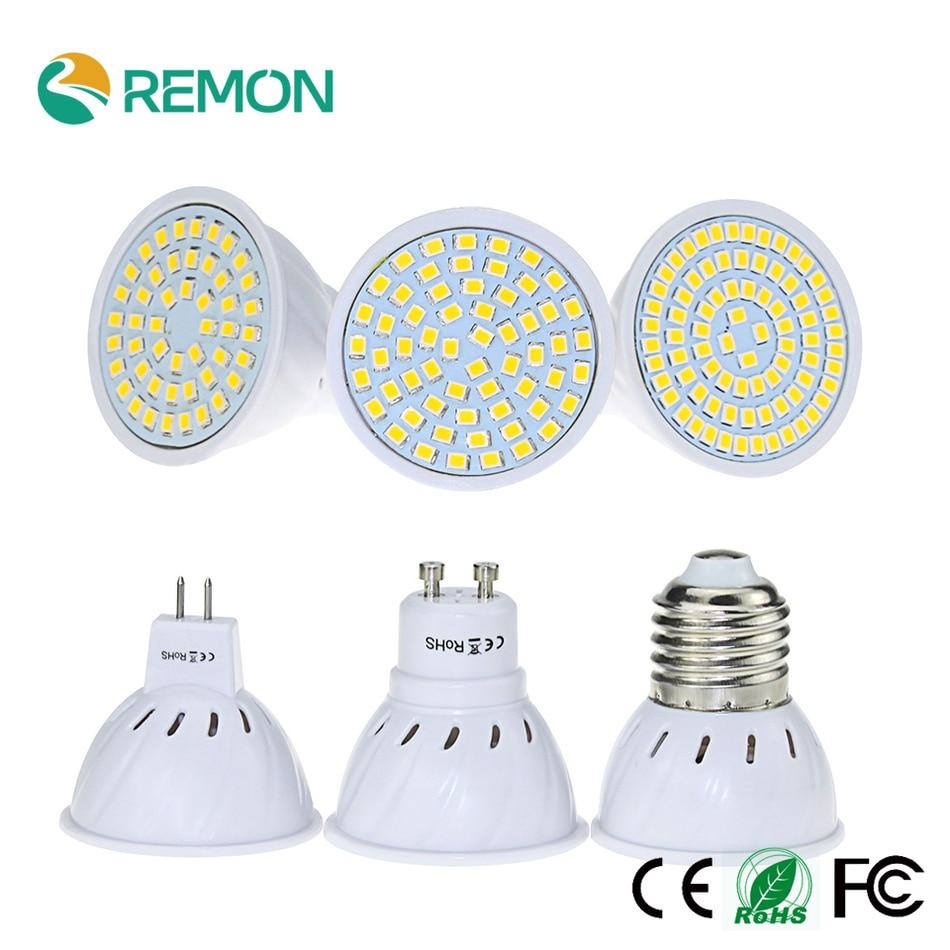 E27 GU10 MR16 Lampada font b LED b font Bulb 220V 48led 60led 80led font b