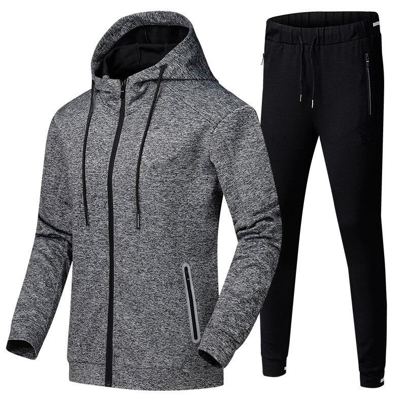 2018 осенние спортивные кроссовки костюм одежда для мужчин 2 шт.