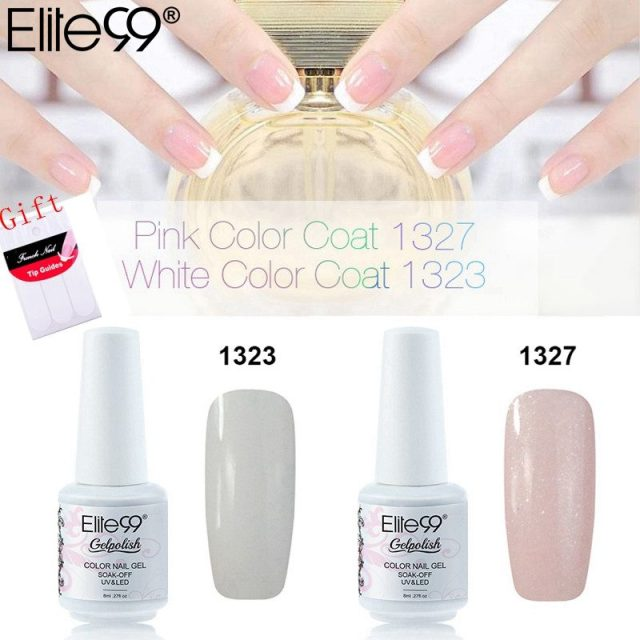 Elite99 8ml New Design Soak Off Color Nail Gel Polish White Pink