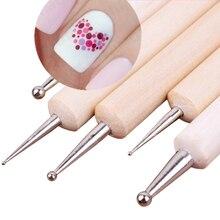 5 шт.2 способ Расставить мрамор Ногтей Инструмент Точка Расставить Инструмент # 14198