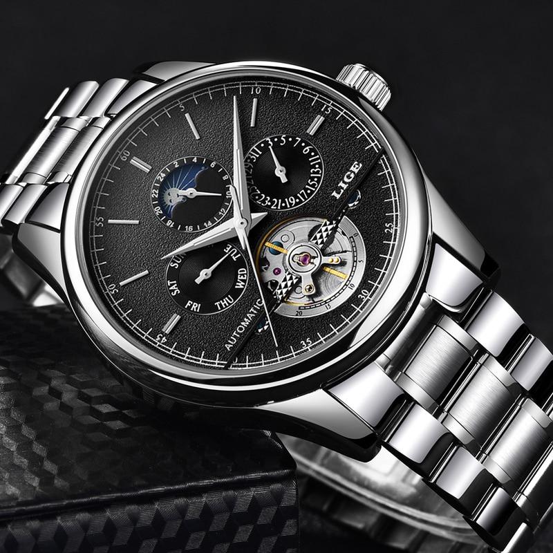 LIGE Watches Men Luxury Brand Chronograph Sports Watches Business Waterproof Full Steel Quartz Men s Watch