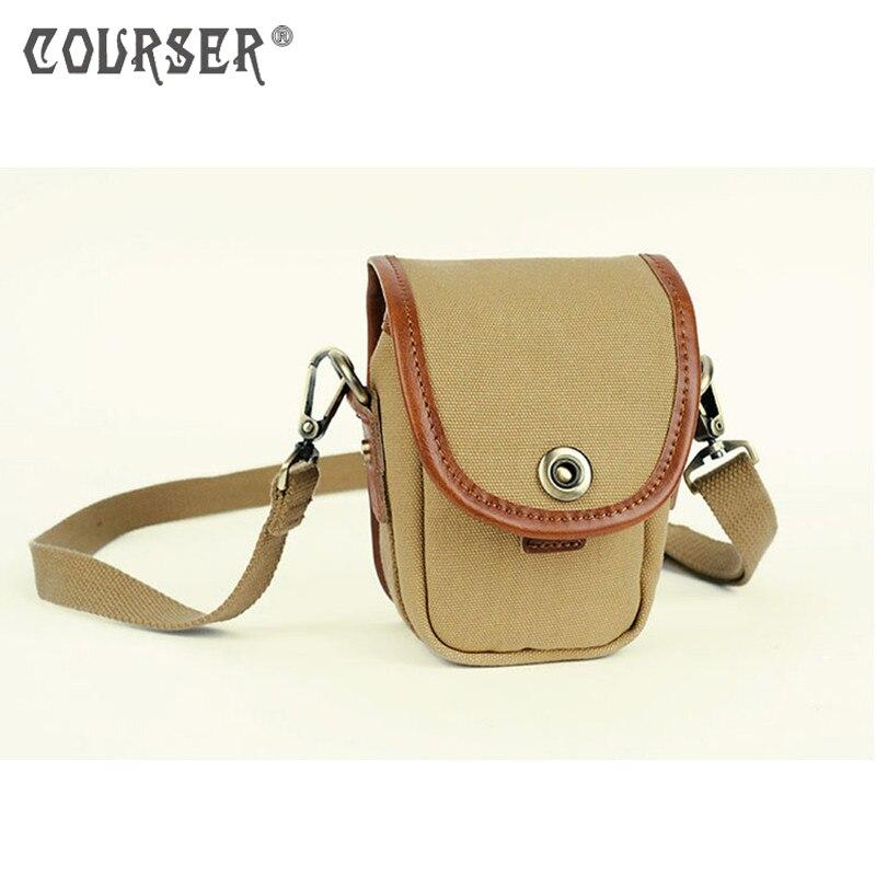 COURSERRCanvas Shoulder Bag Handbags Waterproof SLR Camera Photo Shoulder Messenger Bag+Paitition Padded for Brand DSLR Camera
