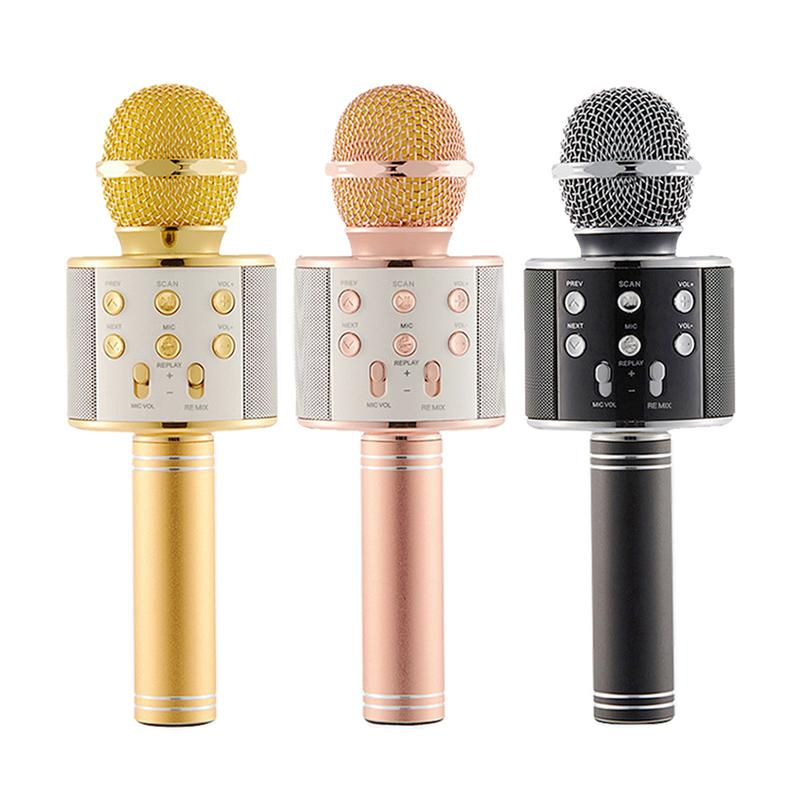 Children Wireless Bluetooth Microphone Handheld Portable KTV Singing Karaoke Audio Device Player