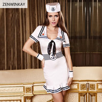 Sailor Sex Clothes Slutty Womens Sexy Costume Role Play Navy Dress Set Halloween Erotic Costumes for Women Sexy Cosplay Lingerie