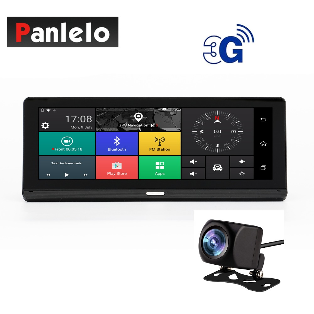 Panlelo 784 Car GPS Navigation On Dash Camera DVR 7.84″ Android System 3G/4G Network Quad Core 1GB RAM 16GB ROM Reverse Camera