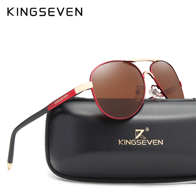 a00a5d8c58 KINGSEVEN Polarized Sunglasses Men Brand HD Polaroid Lens Reflective  Coating Driving Sunglasses Vintage Male Eyewear N7503