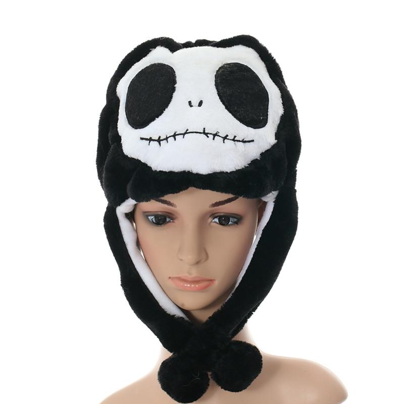 DOUBCHOW Adults Teenages Kids Boys Girls Cartoon Animal Beanie Hat Cute Black Skull Plush Winter Warm Cap 2016 New Fashion