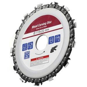 Image 3 - Hoja de sierra Circular de 115x22mm, cadena de motosierra, disco de tallado de madera, amoladoras angulares para carpintería, Universal para discos de corte de madera de 4,5 pulgadas