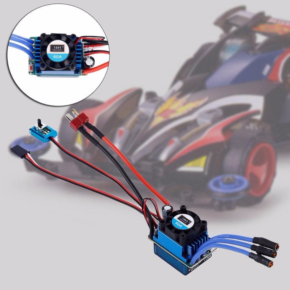 Racing 60A ESC Brushless Electric Speed Controller For 1:10 RC Car Truck 2016 emma heyderman fiona mauchline motivate student s book level 2 cd rom