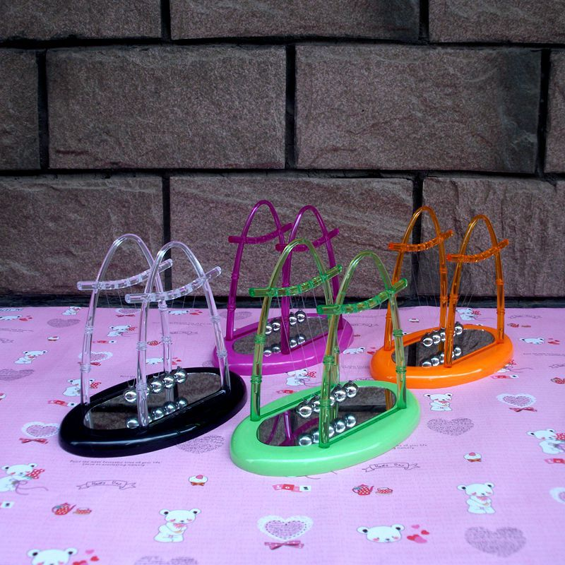 creative desktop wiggler toys mirror base newton39s cradle steel balance ball pendulum base group creative office