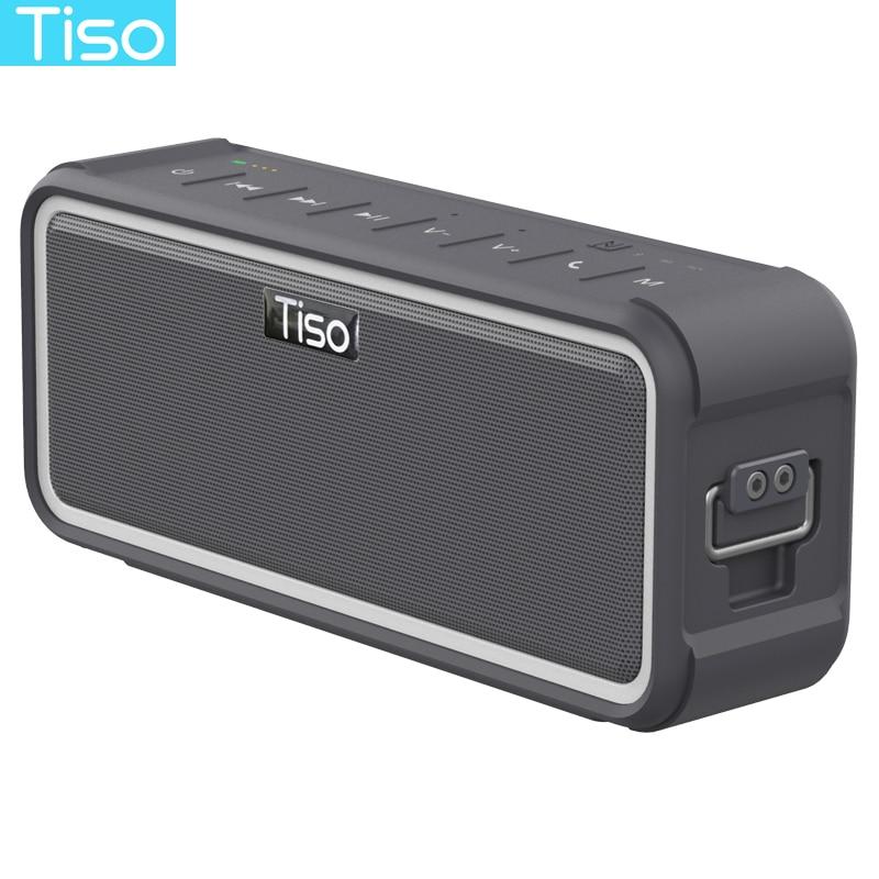 Tiso T15 IPX7 étanche Bluetooth haut-parleur NFC sans fil 20 w sortie stéréo haut-parleur sports de plein air portable crochet up rétro-éclairage