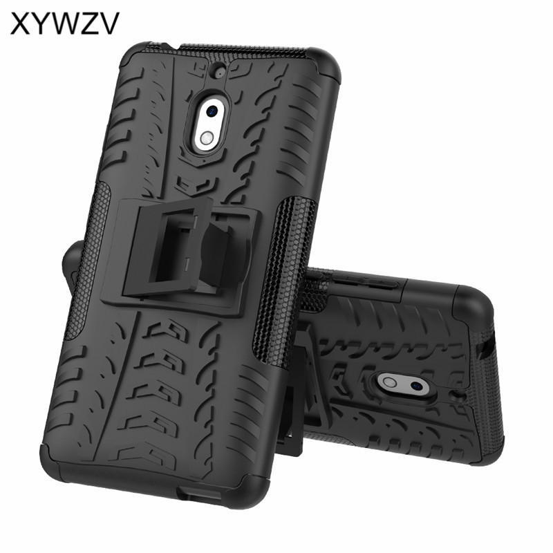 Image 3 - For Nokia 2.1 Case Shockproof Case Armor Soft Silicone Hard PC Phone Case For Nokia 2.1 Back Cover For Nokia 2.1 Holder Fundas-in Fitted Cases from Cellphones & Telecommunications