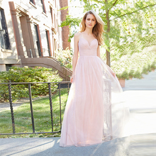 Verngo Pink Tulle Bridesmaid Dresses Spaghetti Straps Dress Simple Elegant Vestidos De boda Invitada
