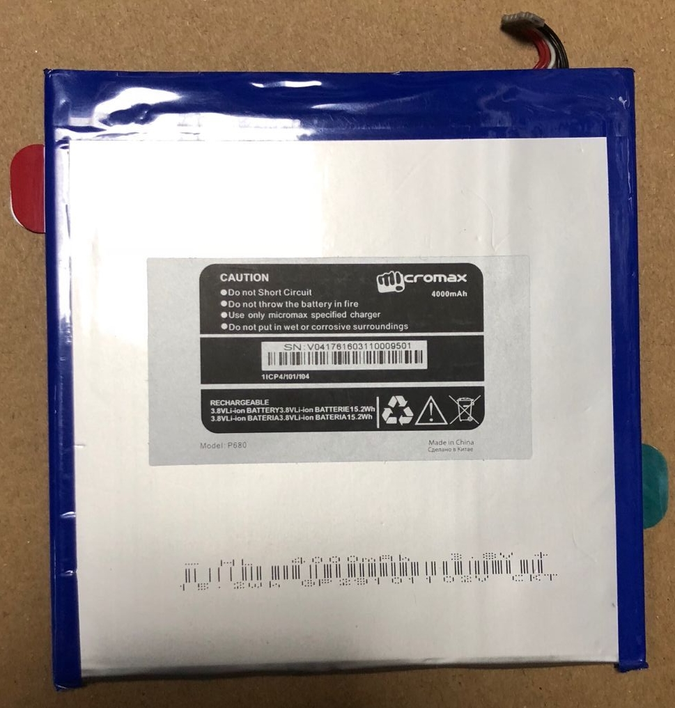 P680 4000mAh Tablets Battery For Micromax p680 Tablet PC Replacement Rechargeable 100% New Battery