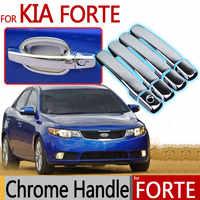 Pour KIA Forte 2009-2013 garnitures chromées poignée de porte extérieure couvre 2010 2011 2012 berline Hatchback accessoires autocollants style de voiture