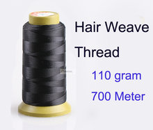 1pc 700 meter 110g Hair weave Thread for weaving needle Brazilian Indian hair weft extension sewing salon styling tools(China)