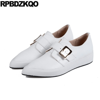 ladies female flats designer shoes china chinese gold trainers 2018 sneakers spring autumn brand casual women white pointed toe