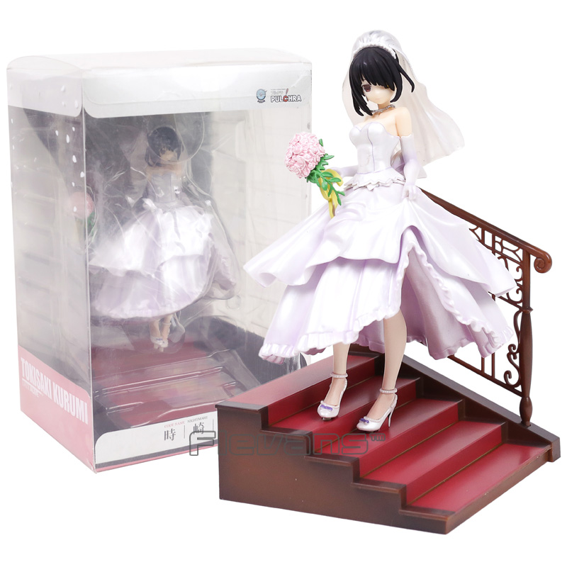 Anime Date A Live II Tokisaki Kurumi Wedding Ver. 1/7 Scale PVC Figure Collectible Model Toy 23cm cnblue come together tour live package release date 2016 08 17 kpop