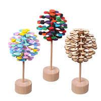 Holz Dreh Relief Bar Spielzeug Zauberstab Stress Relief Spielzeug für Kinder Erwachsene Rotierenden lollipop Dekompression Lollipop Kreative