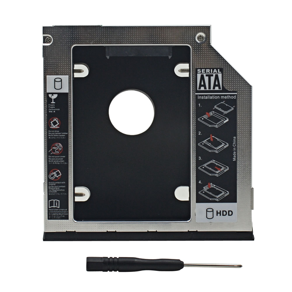 ". Hdd Caddy 9,5mm Sata 3,0 2,5 ""ssd Hdd Festplattengehäuse Box Fall Für Dell E6540 E6440 Optibay"