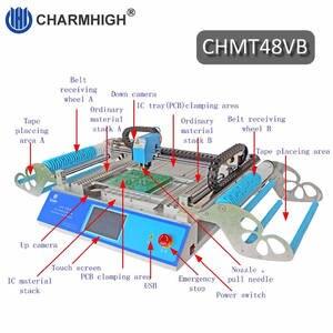 Image 2 - 2019 nouvelle version CHMT48VB SMT Machine de sélection et de placement avec rail carré + chargeur de vibrations, production par lots, Charmhigh