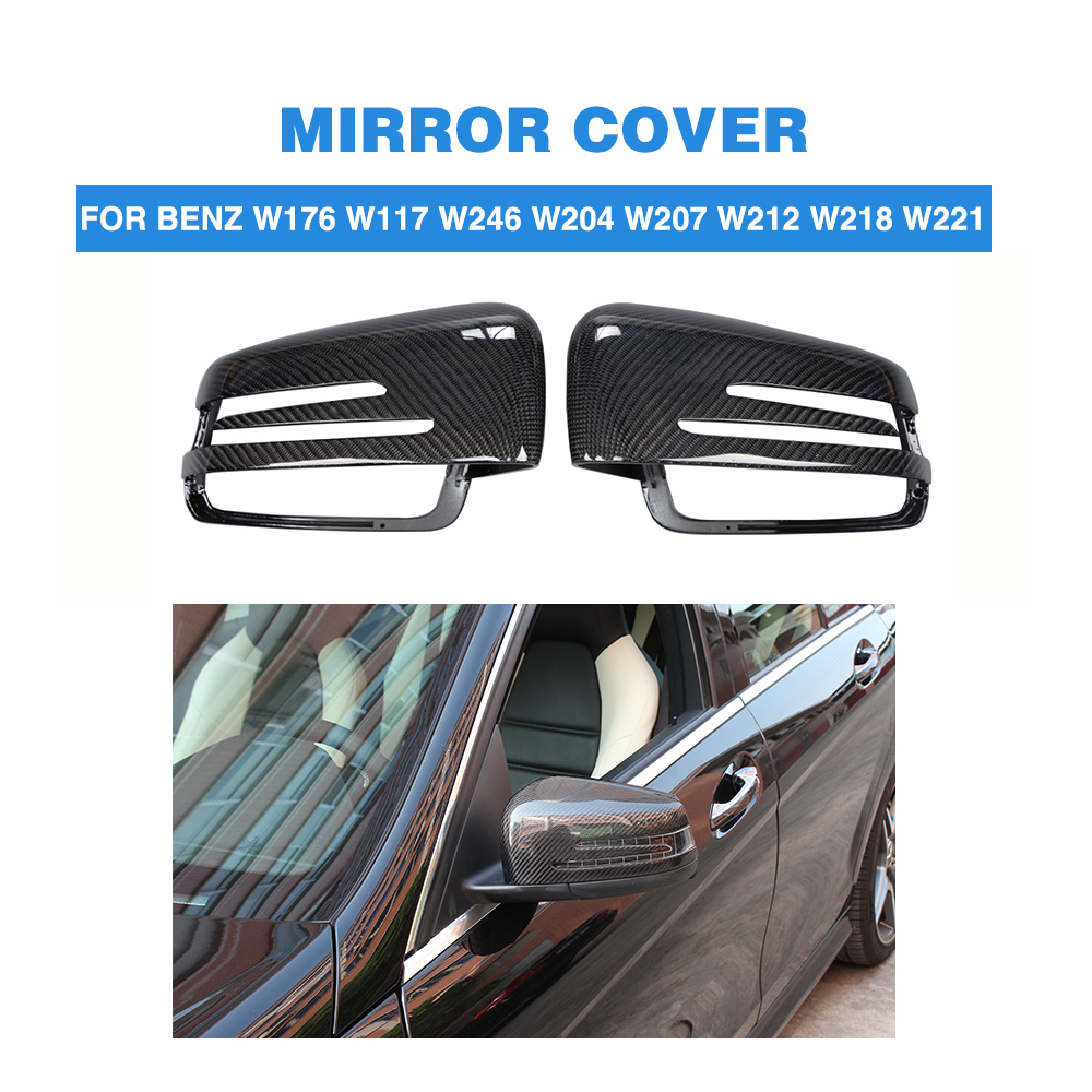 Carbon Fiber Replace Type Car Side Mirror Covers Rearview Mirror Caps For Mercedes Benz W176 W117 W246 X156 W204 W212 W218 W221Carbon Fiber Replace Type Car Side Mirror Covers Rearview Mirror Caps For Mercedes Benz W176 W117 W246 X156 W204 W212 W218 W221