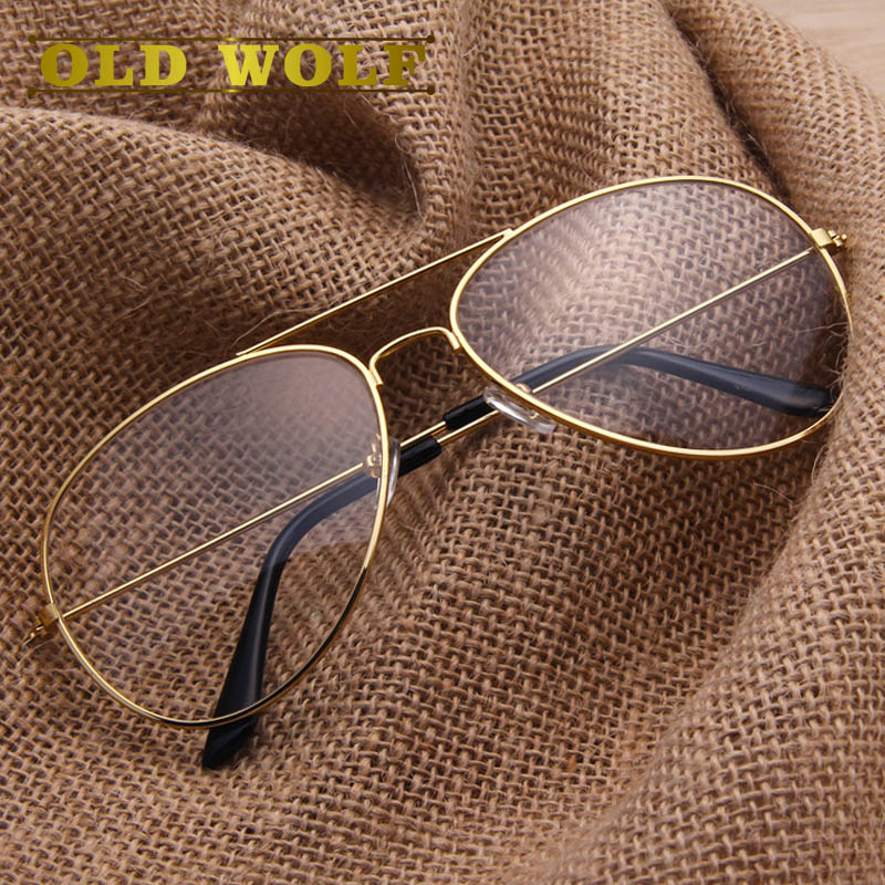 0cde431e08f8 Fashion Brand Designer Gold Eyewear Frames Women Glasses Clear Lens Optical  Spectacle Frame Vintage Eyeglasses Men Glasses Frame-in Eyewear Frames from  ...