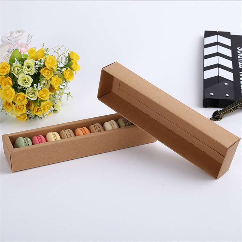 60pcs Macaron Packaging Box,Kraft Paper Heaven and earth cover box Handmade Soap Boxes Craft Gift Jewel box