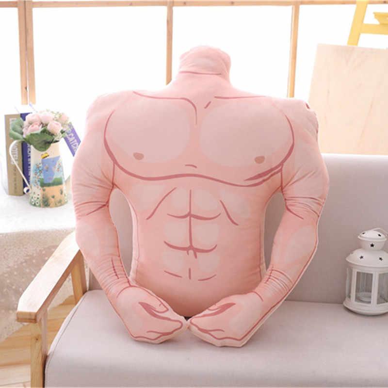 Yumuşak yastıklar kas adam erkek arkadaşı kol peluş oyuncak arka yastık büyük konfor yastık yaratıcı doğum günü kız arkadaşı sevgililer hediye