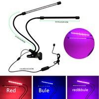 LED Plant Growth Lamp Dual Head Full Spectrum Lights for Hydroponics Greenhouse Green Plant USB/US/EU M25