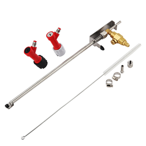 Stainless Steel Beer CO2 Bottle Filter Gun For Homebrew Barware Beer Making Bottling Tools With Pin Lock Disconnect set