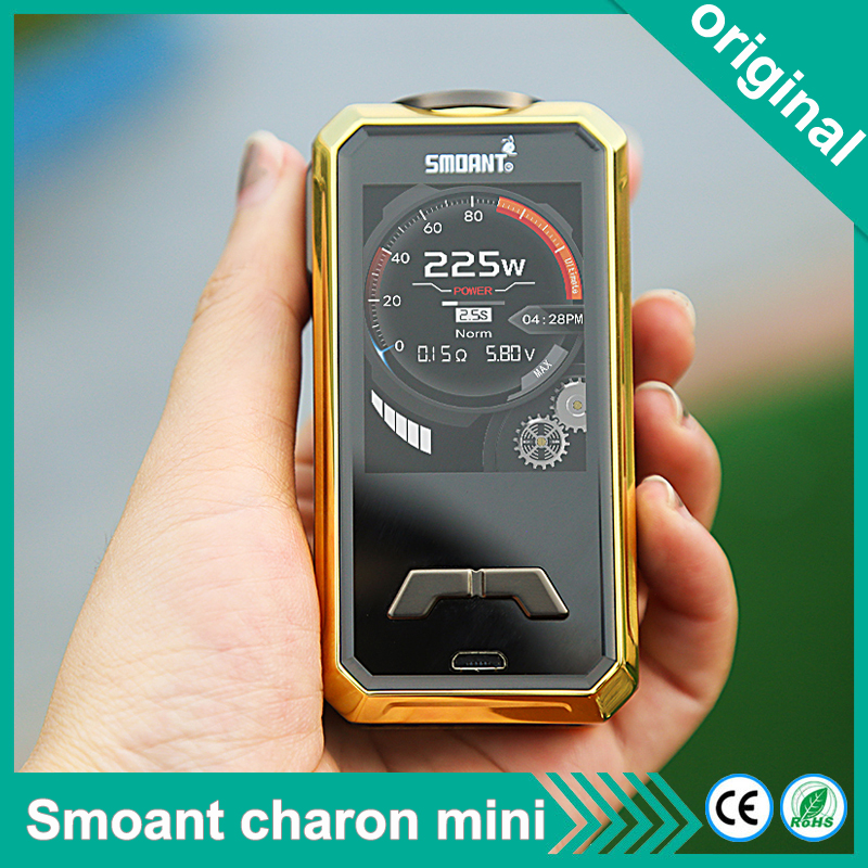 electronic cigarettes 225W Smoant Charon Mini Box Mod Vape Vaporizer Powered By 18650 Battery 2 0