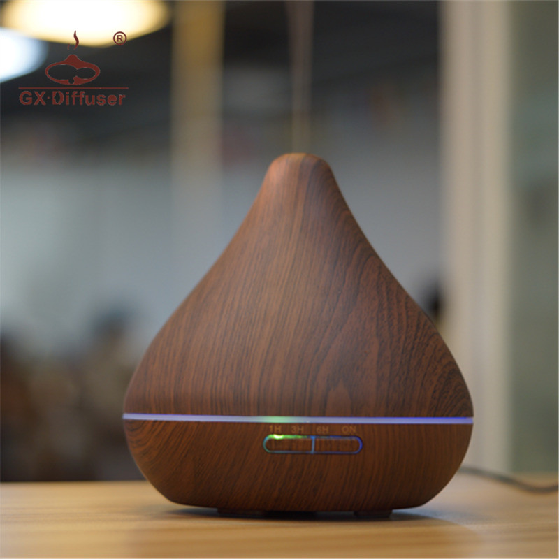GX.Diffuser Aromatherapy Air Humidifier Ultrasonic For Home Office 7 LED Night Colorful Lights Mist Maker Aroma Diffuser 220v bear brand ultrasonic aromatherapy 4l ultra quiet air humidifiers for home office air purifier humidifier jsq a40a2