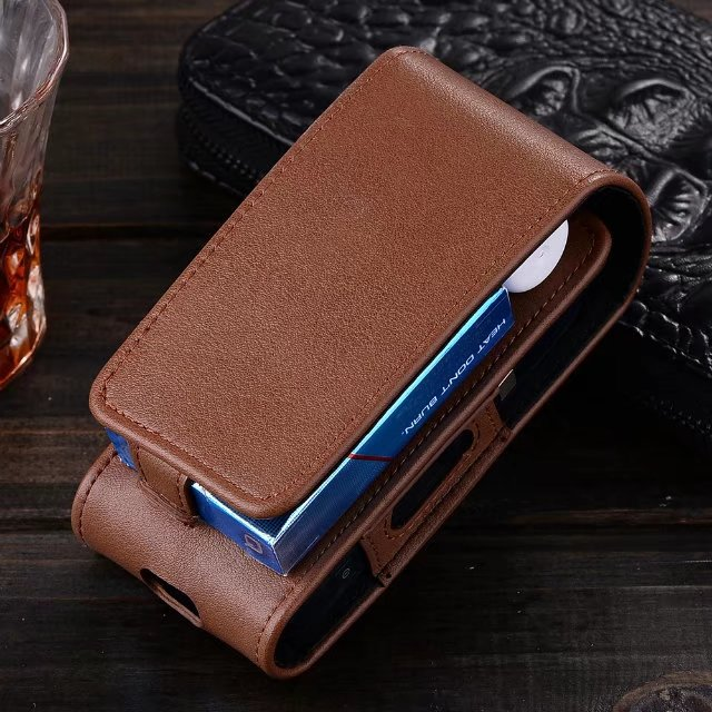 Original 331332 factory Full Protective Box Card Holder Pouch Bag PU IQOS Leather Case for iQOS Electronic Cigarettes hot in Jap