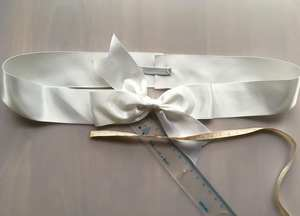500pcs Free shipping White Package Bow with Ribbon with elastic link