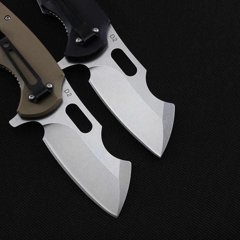59-60HRC D2 лезвие G10 + Сталь ручка карманный складной нож на открытом воздухе нож для выживания инструмент тактический EDC подшипник, карманный нож для повседневного использования