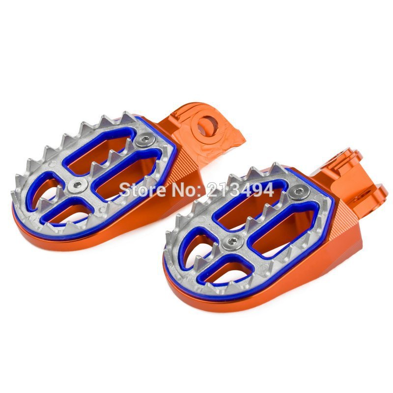 Billet MX Foot Pegs Rests Pedals For KTM EXC SX SXF XC XCF 65 85 125 200 250 300 350 400 450 525 530 690 950 990 1090 1190 1290 цена