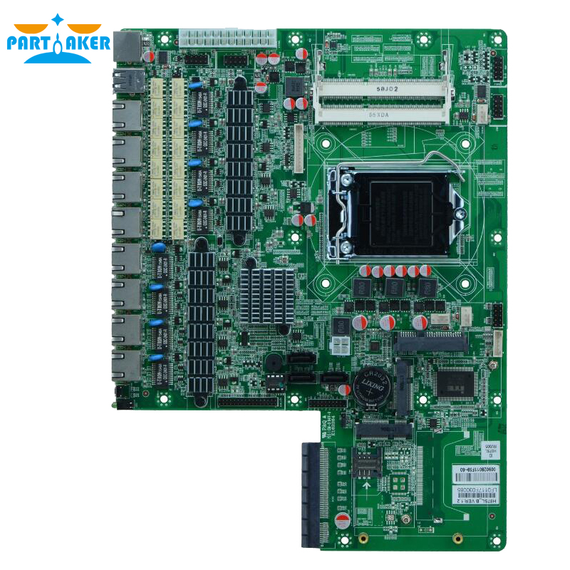 8 ethernet ports Firewall industrial embedded Netwok router motherboard H87SL_B for Support LGA1150 With 2*bypass /1*VGA /8*USB