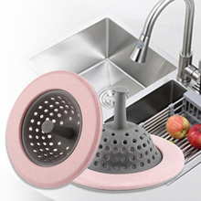1 Pcs Plastic Sink Strainer For Bathroom Kitchen Items For Washbasin Sink Filter Silica Gel Anti-blocking Sink Drains Cover