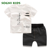 SOGNI KIDS Boys Clothes Summer Baby Casual Boy Clothes Children Toddler Clothing Set 100 Cotton Short