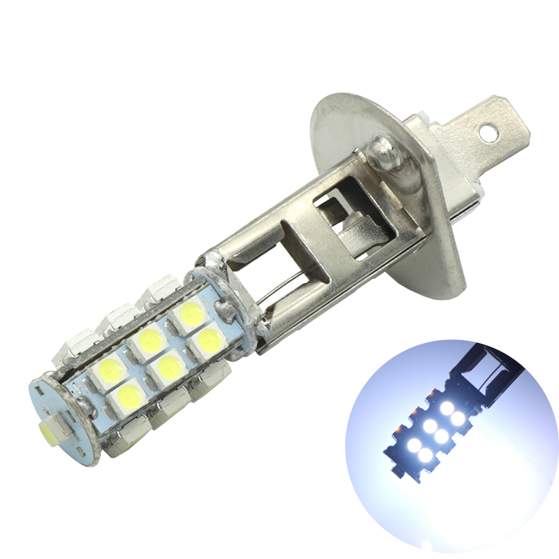1pcs H1 LED 25 SMD 3028 Chip Bulbs Car Fog Lights 6000K Daytime Running Light DRL Driving Bulb Auto Leds H1 Lamp DC 12V White цены