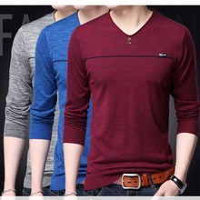 M-3XL!2017 New Arrive Spring Men's Knitted Thin Sweater Fashion Male Quality Thin Sweater Men's Thin Pullovers Sweater