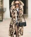 Europa 2017 última moda gruesa Abajo chaqueta mujeres abrigo de invierno Largo de down abrigos con capucha de manga larga casual escudo oficina D-0261